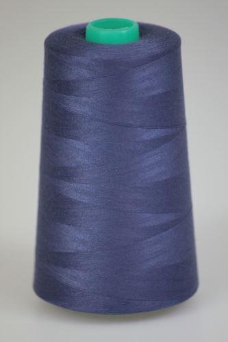 Niť KORALLI polyesterová 120, 5000Y, odtieň 4650, modrá