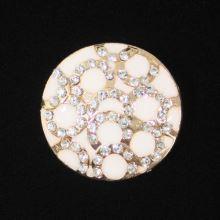 Gombík štrasový K9A, priemer 30 mm