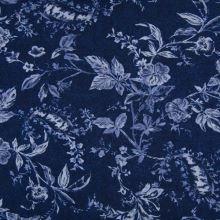 Šatovka 21758 modrá, kvetinový vzor, š.145