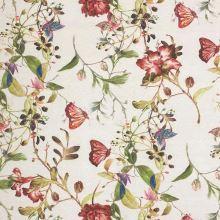 Dekorační látka P0557 béžová, květinový vzor, š.140