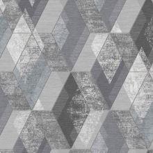 Dimout šedý, geometrický vzor, š.150