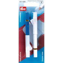 Krejčovská tužka Prym, modrá a bílá křída