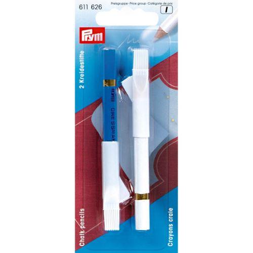 Krajčírska ceruzka Prym, modrá a biela krieda