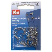 Zapínání Prym 263846, háček + očko, 3 mm