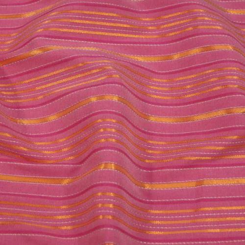 Košeľovina ružová, oranžový pruh, š.150
