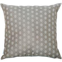 Dekoračný vankúš, šedo-biely vzor, 45x45 cm