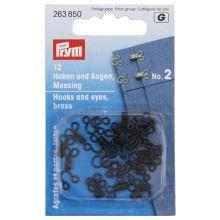 Zapínanie Prym 263851, háčik + očko, 2 mm