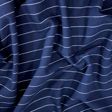 Kostýmovka tmavě modrá, bílý pruh š.150