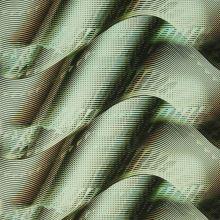 Satén zeleno-žluté vlny š.145