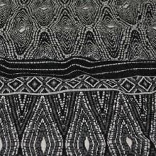 Úplet 18680, šedo-černý vzor, š.150