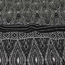 Úplet 18680, šedo-čierny vzor, š.150