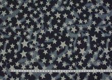 Denim modrý tmavý, hvězdy š.145