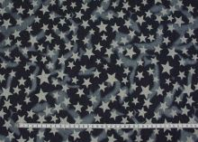 Denim modrý tmavý, hviezdy š.145
