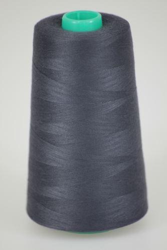 Niť KORALLI polyesterová 120, 5000Y, odtieň 9490, šedá