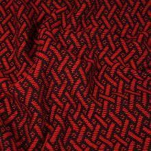 Kabátovina červenočierna, š.150