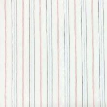 Košilovina 06629 bílá, barevný pruh, š.120