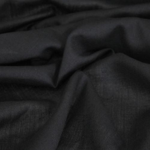 Len černý 09345, 190g/m, š.145