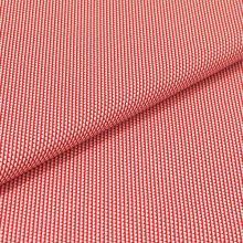 Bavlněné plátno červené, bílý půlpuntík, š.140