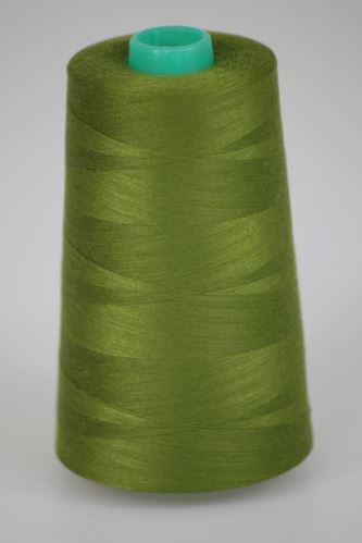 Nit KORALLI polyesterová 120, 5000Y, odstín 6855, zelená