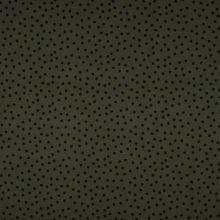 Šatovka 21754 khaki, černý drobný puntík, š.145