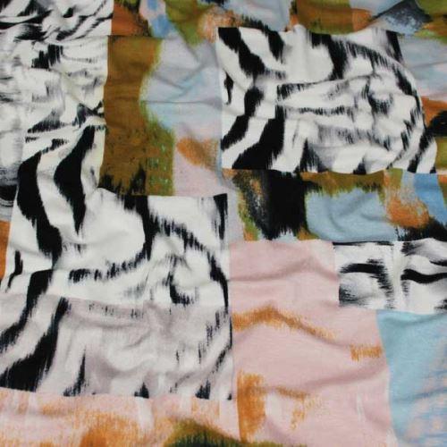 Úplet barevný, vzor zebra, š.145