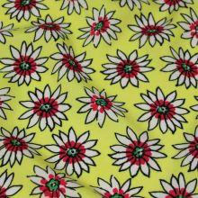 Šatovka žlutá, červeno-bílé květy, š.140