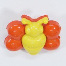 Knoflík dětský žlutooranžový, motýl, 18 mm