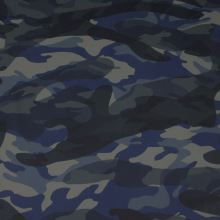 Koženka army, modrá kamufláž, š.140