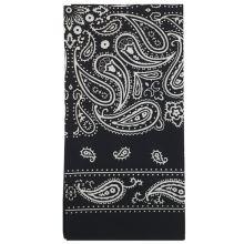 Dětský šátek černý, kašmírový vzor, 55x55cm
