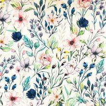 Šatovka SILKY biela, lúčne kvety, š.145