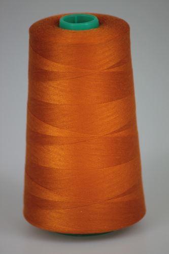 Niť KORALLI polyesterová 120, 5000Y, odtieň 2250, oranžová-hnedá