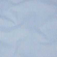 Bavlněné plátno bílé, drobný modrý proužek, š.140