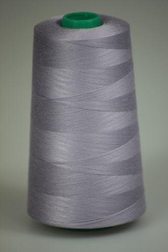 Niť KORALLI polyesterová 120, 5000Y, odtieň 4135, fialová-šedá