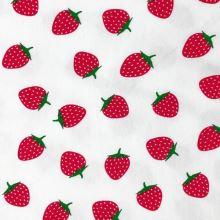 Úplet bílý, jahody, š.150