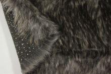 Kožešina šedobílá 17772, hnědý melír, š.150