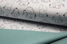 Softshell biely, sloníky, š.145