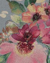 Dekorační látka NATALI světle modrá, květinový vzor, š.280