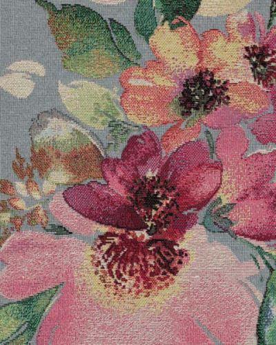 Dekoračná látka NATALI svetlo modrá, kvetinový vzor, š.280