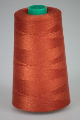 Niť KORALLI polyesterová 120, 5000Y, odtieň 2260, oranžová-hnedá