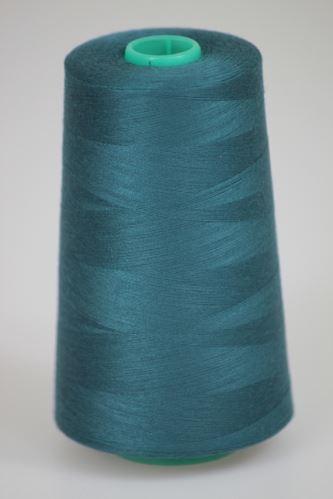 Niť KORALLI polyesterová 120, 5000Y, odtieň 5880, modrá-zelená