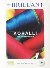 Farebnice - polyesterové nite Koralli, 400 odtieňov