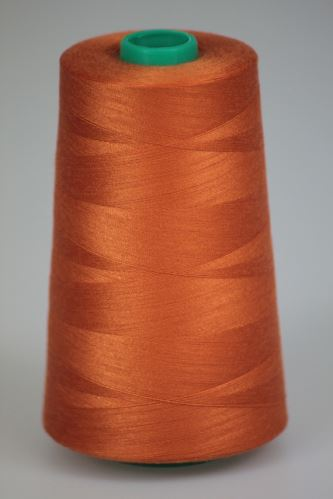 Niť KORALLI polyesterová 120, 5000Y, odtieň 2240, oranžová-hnedá