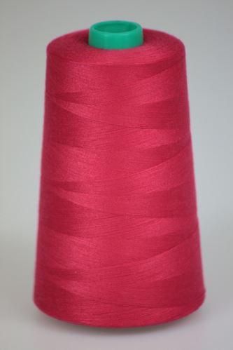 Niť KORALLI polyesterová 120, 5000Y, odtieň 3550, ružová-červená