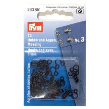 Zapínanie Prym 263851, háčik + očko, 3 mm