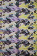 Satén fialovo-žltý, š.145