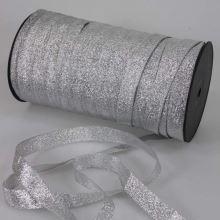Stuha lurexová stříbrná, šíře 10mm