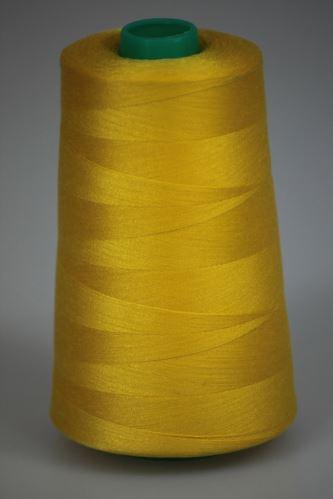 Niť Koralle polyesterová 120, 5000Y, odtieň 1340, žltá