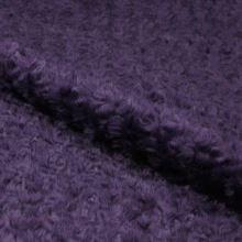 Plyš fialový, kroucený vlas, š.150