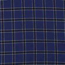 Košeľovina 21437 kráľovská modrá, káro, š.150