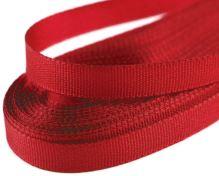 Stuha taftová červená, šírka 6mm, 10m